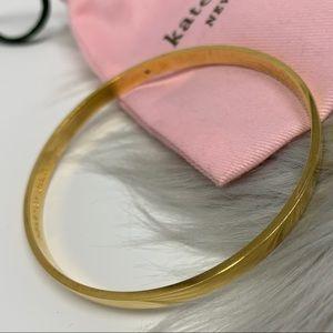 Kate Spade Heart of Gold Bangle Bracelet w Bag